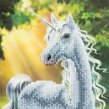 Crystal Art Sunshine Unicorn 18 x 18cm Card CCK-A2