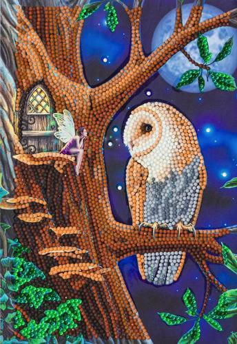 Crystal Art Owl and Fairy Tree Notebook CANJ-1