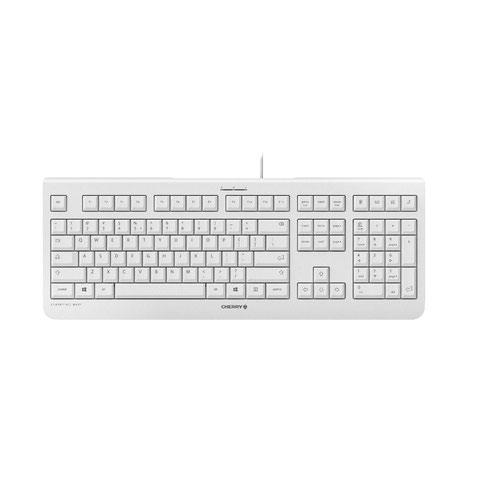 Cherry KC 1000 QWERTY US Keyboard Grey Up to 10 Million Keystrokes 4 Hotkeys Plug and Play via a USB Connection