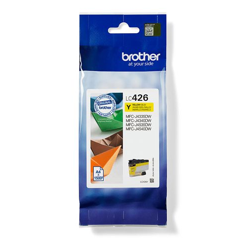 Brother Yellow Ink Cartridge standard capacity 1500 pages LC426Y