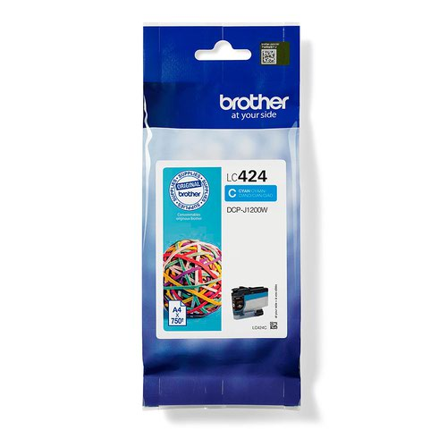 Brother Cyan Standard Capacity Ink Cartridge 750 pages - LC424C