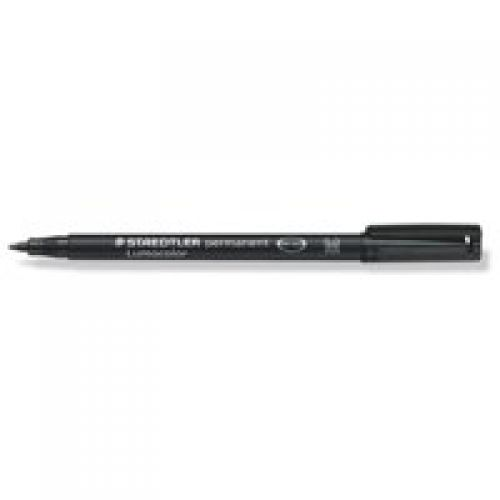 Staedtler Lumocolor OHP Pen Perm Med 0.8mm Black PK10