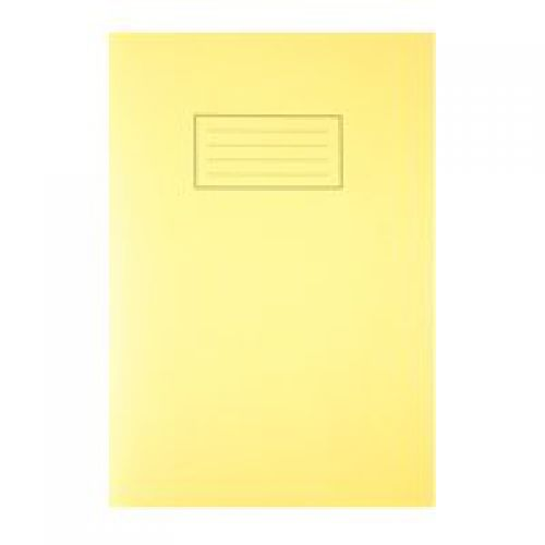 Silvine A4 Exercise Book Ruled Yellow 80 Pages (Pack 10)