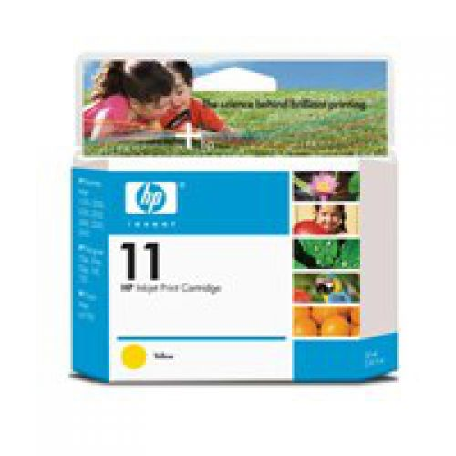 HP 11 Yellow Standard Capacity Ink Cartridge 20ml - C4838A