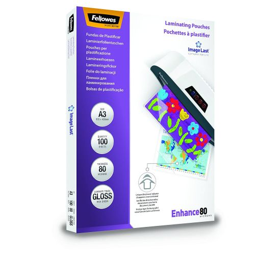 Fellowes Laminating Pouch A3 2x80 micron 5306207 (PK100)