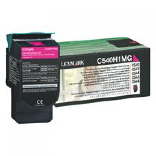 Lexmark C540 Magenta High Yield Return Program Toner 0C540H1CG