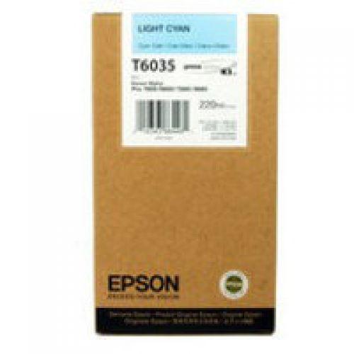 Epson T6035 Light High Yield Cyan Inkjet Cartridge C13T603500 / T6035