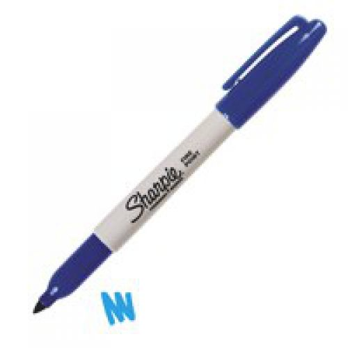 Sharpie Permanent Marker Fine Tip 1.0mm Line Blue PK12