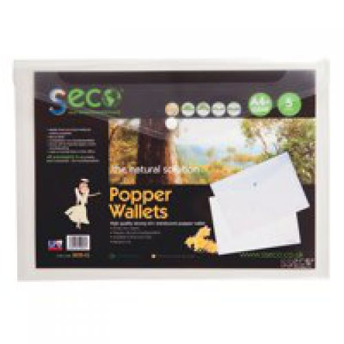 Stewart Superior Eco Biodegradable Wallet A4 Clear (Pack of 5) 30085-CL