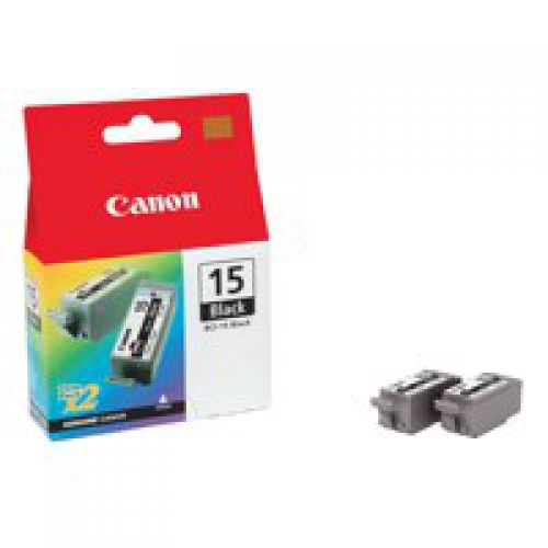 Canon 8190A002 BCI15 Black Ink 5ml Twinpack