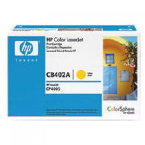 HP CB402A 642A Yellow Toner 7.5K