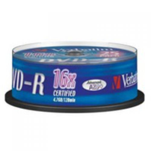Verbatim DVD-R 16X 25 4.7GB 25 Pack Spindle