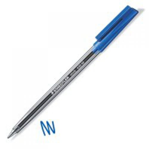 Staedtler 430 Stick Ball Pen Med 0.35mm Blue PK10