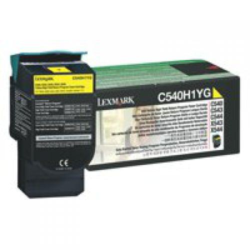 Lexmark C540 Yellow High Yield Return Program Toner 0C540H1CG