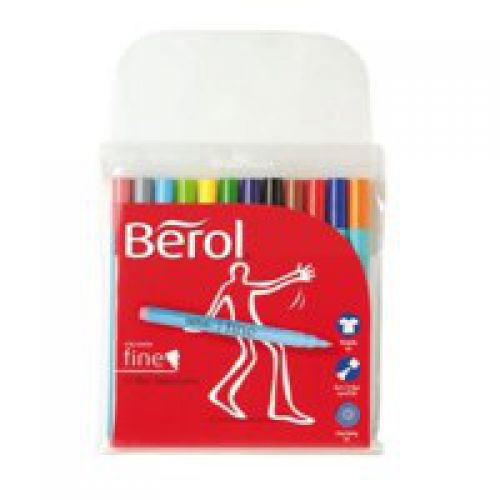 Berol Colourfine Marker Pk12 Assorted