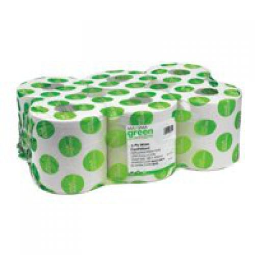 Maxima 2ply CentreFeed Roll 150m White (Pack 6)