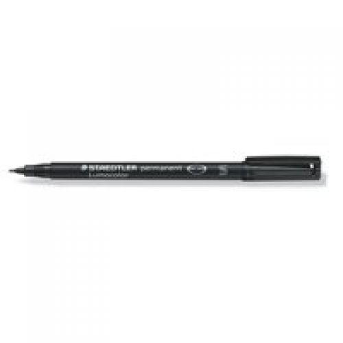 Staedtler Lumocolor OHP Pen Perm Superfine 0.4mm Black PK10