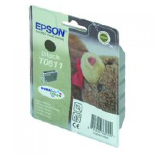 Epson C13T06114010 T0611 Black Ink 8ml