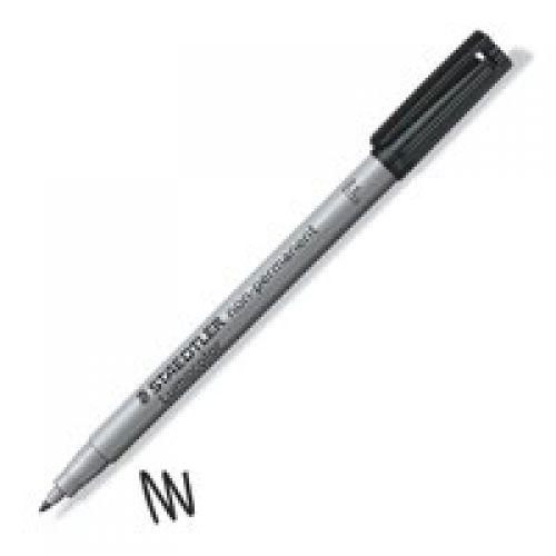 Staedtler Lumocolor OHP Pen Non-perm Fine 0.6mm Black PK10