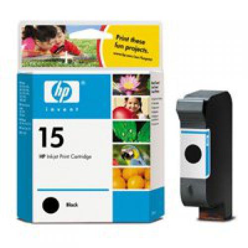 HP C6615D 15 Black Ink 25ml