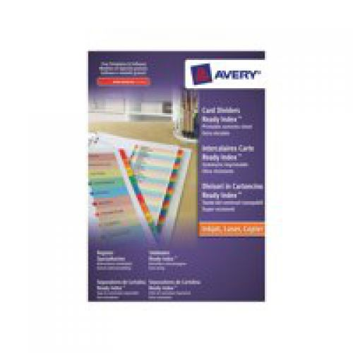 Avery Readyindex Divider 1-20 01966501