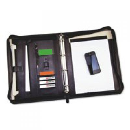 Monolith Conference Folder Zipped Leather