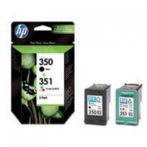 HP SD412EE 350 351 Black Tricolour Ink 4.5ml 3.5ml Twinpack