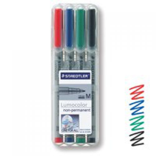 Medium Non-Perm Markers Assorted Pk4