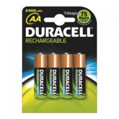 Duracell Plus Power AA Rechargeable Batteries PK4