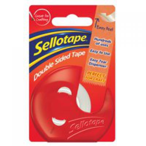 Sellotape Double Sided Tape With Dispenser 15mmx10m Code 484344
