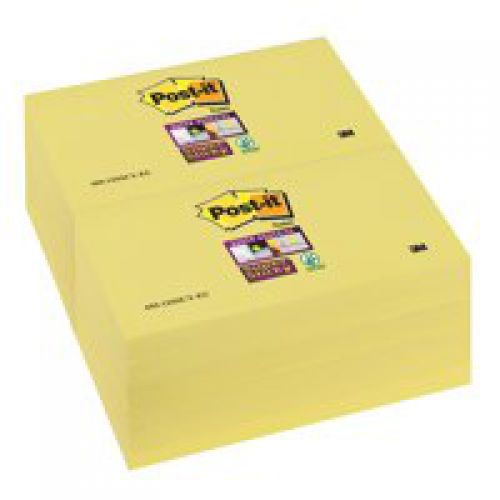 Post-it 76x127mm Yellow Notes Pk12 655Y
