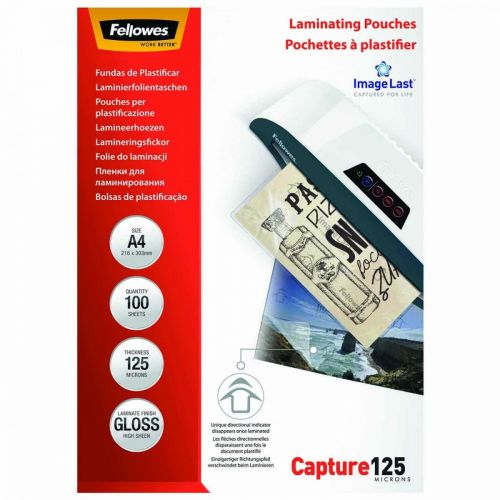 Fellowes Laminating Pouch A4 2x125 micron 5307407 (PK100)