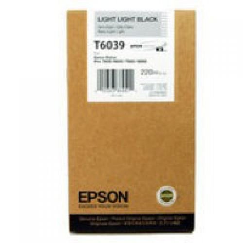 Epson C13T603900 T6039 Light Light Black Ink 220ml