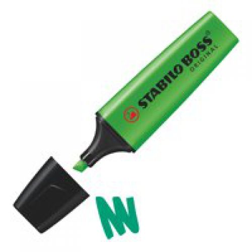 Stabilo Boss Highlighters Chisel Tip 2-5mm Line Green PK10