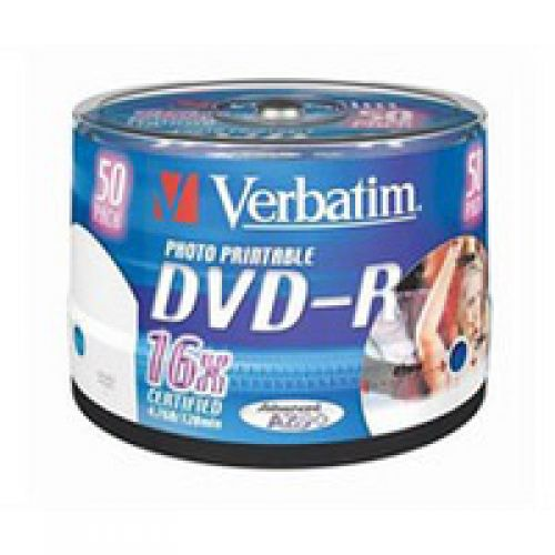 Verbatim DVD-R 4.7GB 16x Spindle 43533