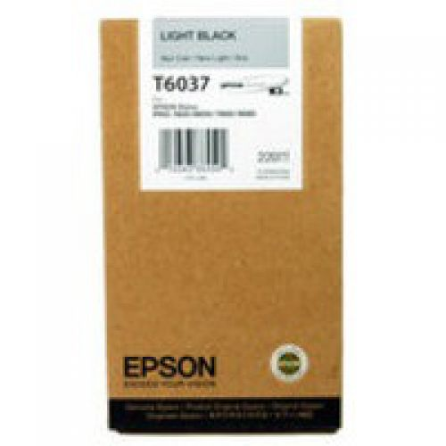 Epson C13T603700 T6037 Light Black Ink 220ml