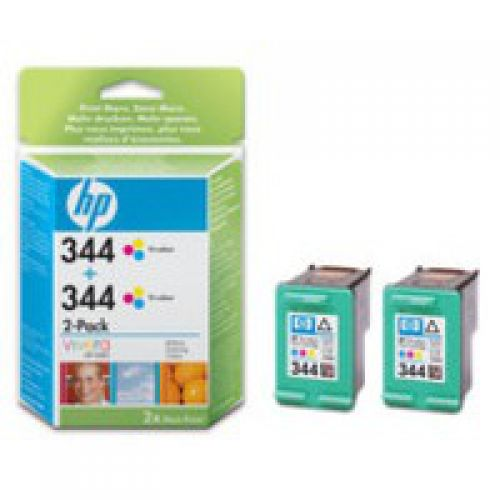HP C9505E NO 344 2PK TRI COLOUR INK CART