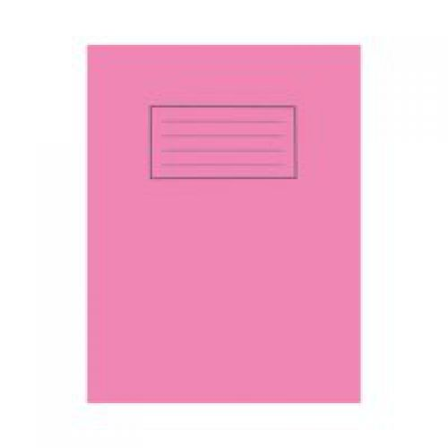 Silvine 9x7 Exercise Book Plain Pink PK10