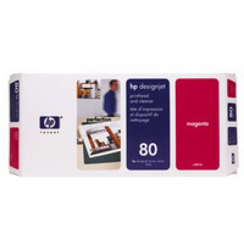 HP C4822A 80 Magenta Printhead And Cleaner 17ml