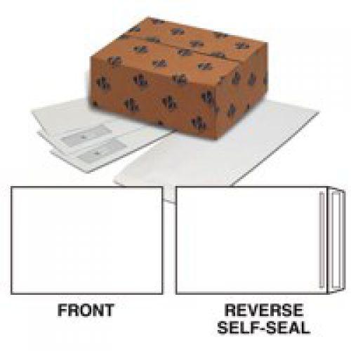 Plus Fabric Pocket Press Seal 120gsm Plain C4 White PK250