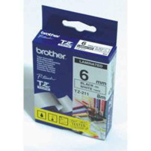 Brother TZE431 Black on Red Label Tape 12mmx8m