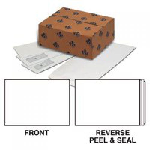 Plus Fabric Pocket Peel and Seal 120gsm Plain C4 White PK250