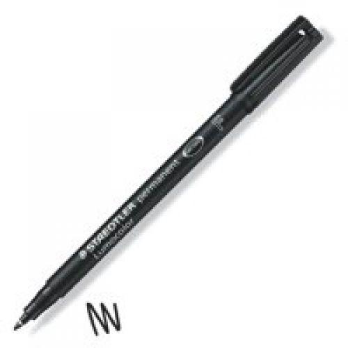 Staedtler Lumocolor OHP Pen Perm Fine 0.6mm Black PK10