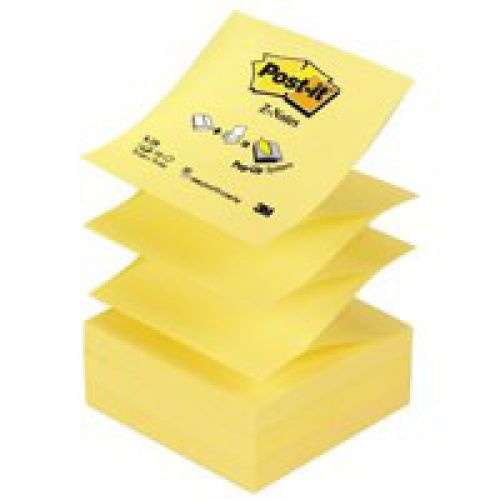 Post-it Z-Notes Refill 76x76mm Canary Yellow PK12