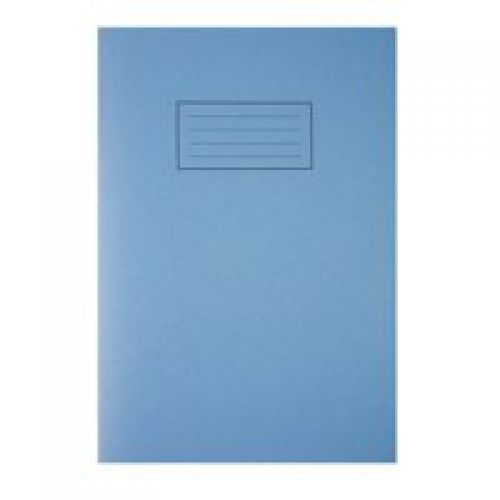 Silvine A4 Exercise Book Plain Blue PK10