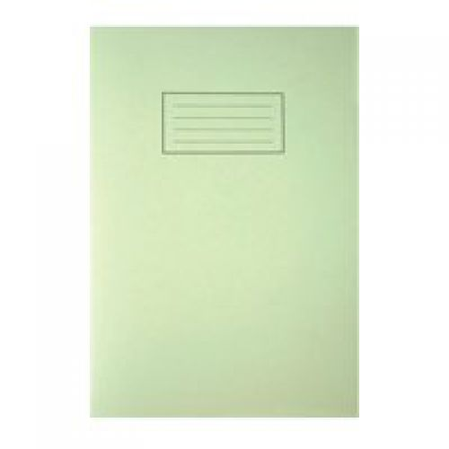 Silvine A4 Exercise Book Ruled Green PK10