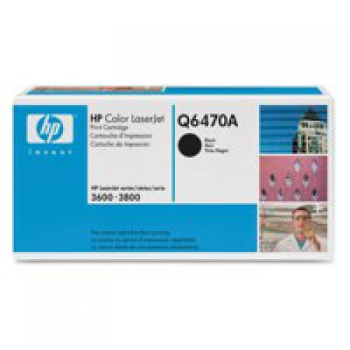 HP Q6470A 501A Black Toner 6K