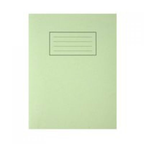 Silvine 9x7 Exercise Book Ruled Green PK10