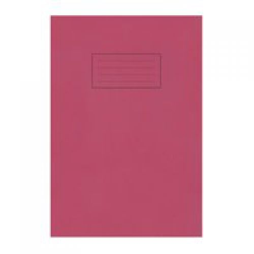Silvine A4 Exercise Book Ruled Red PK10