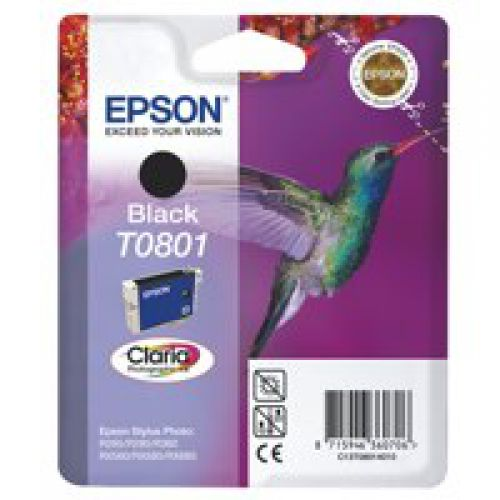 Epson C13T08014011 T0801 Black Ink 7ml